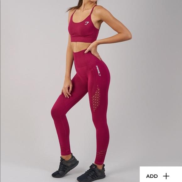 cadfd6e2740f8c gymshark Pants | Seamless Beet Leggings Size New | Poshmark